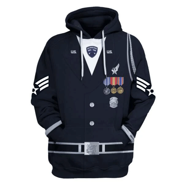 Gearhomies Personalized Tops US Air Force Honor Guard