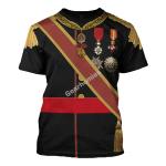 Gearhomies Unisex T-Shirt Alfonso XII Of Spain 3D Apparel