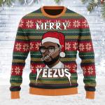 Merry Christmas Gearhomies Unisex Ugly Christmas Sweater Merry Yeezus Meme 3D Apparel