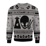 Gearhomies Christmas Unisex Sweater I Am Beauty, I Am Grace, I'm From Outer Space Alien 3D Apparel