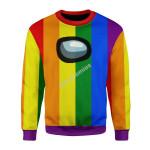 Merry Christmas Gearhomies Unisex Christmas Sweater LGBTQ+ Among Us
