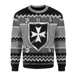 Merry Christmas Gearhomies Unisex Christmas Sweater Knights Hospitaller Ugly Christmas