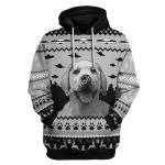 Gearhomies Tops Pullover Sweatshirt UFO Happy Dog 3D Apparel