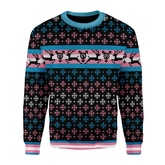 Merry Christmas Gearhomies Unisex Christmas Sweater Transgender Pride Flag 3D Apparel