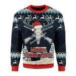 Merry Christmas Gearhomies Unisex Christmas Sweater Deer Hunting 3D Apparel