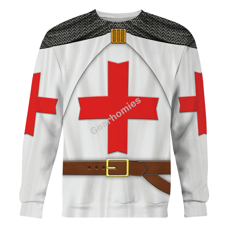 Gearhomies Unisex Sweatshirt Hugues de Payens 3D Apparel