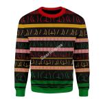 Merry Christmas Gearhomies Unisex Christmas Sweater Butts Wall Ugly Christmas