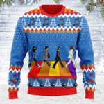 Merry Christmas Gearhomies Unisex Ugly Christmas Sweater The Beatles Hippie 3D Apparel