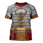 Gearhomies Unisex T-Shirt Roman Empire Soldier Armor 3D Apparel