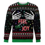 Merry Christmas Gearhomies Unisex Christmas Sweater Feel The Joy Ugly Christmas