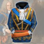 Gearhomies Unisex Hoodie Philip V of Spain Historical 3D Apparel