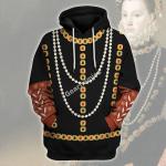 Gearhomies Unisex Hoodie Elisabeth of Valois Queen of Spain Historical 3D Apparel