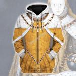 Gearhomies Unisex Hoodie Queen Elizabeth I Historical 3D Apparel