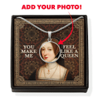 Gearhomies Jewelry Custom Face Photo Queen Anne Boleyn Circle Pendant with Message Card
