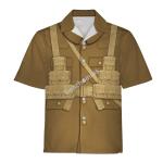 Gearhomies Unisex Hawaiian Shirt World War 1 British Soldiers Historical 3D Apparel