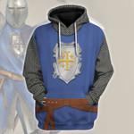 Gearhomies Unisex Hoodie Knight of Edessa Historical 3D Apparel