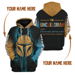 Gearhomies Personalized Unisex Tops Pullover Sweatshirt Unclelorian 3D Apparel