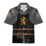 Gearhomies Unisex Hawaiian Shirt Heraldic Knight Black 3D Apparel