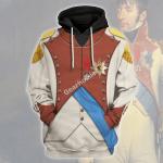 Gearhomies Unisex Hoodie Louis Bonaparte Historical 3D Apparel
