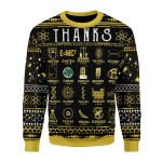 Gearhomies Christmas Unisex Sweater Thanks Science Wool 3D Apparel