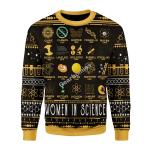 Gearhomies Christmas Unisex Sweater Women In Science 3D Apparel