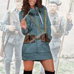 Gearhomies Dress Hoodie World War 1 Austro Hungarian Soldiers Historical 3D Apparel