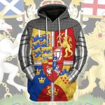 Gearhomies Unisex Hoodie Royal Arms of Scotland Historical 3D Apparel