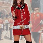 Gearhomies Dress Hoodie The Queen Guards Historical 3D Apparel