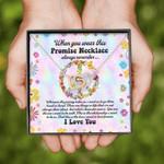 Gearhomies Jewelry Hippie Promise Necklace for Girlfriend from Boyfriend
