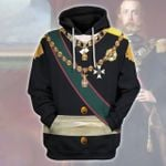 Gearhomies Unisex Hoodie Maximilian I of Mexico Historical 3D Apparel