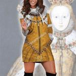 Gearhomies Dress Hoodie Queen Elizabevth I Historical 3D Apparel