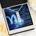 Gearhomies Jewelry Custom Name Capricorn Zodiac Birthstone Necklace