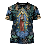 Gearhomies T-Shirt Lady Of Guadalupe 3D Apparel