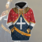 Gearhomies Unisex Hoodie Richard I of England The Lionhearted Historical 3D Apparel