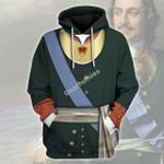 Gearhomies Unisex Hoodie Emperor Pyotr I of Russia (1969 - 1725) Historical 3D Apparel