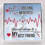 Gearhomies Jewelry Custom Name You'll Always Be My Best Friend Necklace With Message Card