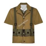Gearhomies Unisex Hawaiian Shirt US Army WW1 Infantryman Historical 3D Apparel