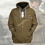 Gearhomies Unisex Hoodie U.S General WWII Historical 3D Apparel