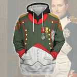 Gearhomies Unisex Hoodie Napoleon in Chasseur-Cheval Historical 3D Apparel