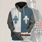Gearhomies Unisex Hoodie French Knight Historical 3D Apparel