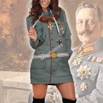 Gearhomies Dress Hoodie Wilhelm II Former German Emperor Historical 3D Apparel