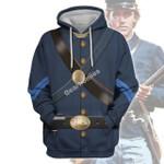 Gearhomies Unisex Hoodie Civil War s of Blue Union Infantryman Historical 3D Apparel