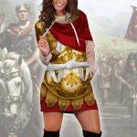 Gearhomies Dress Hoodie Caesar Augustus Historical 3D Apparel