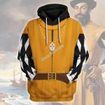 Gearhomies Unisex Hoodie Ferdinand Magellan Historical 3D Apparel
