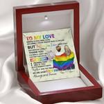 Gearhomies Jewelry LGBTQ+  To Beloved Custom Interlocking Heart Necklace