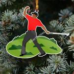 Gearhomies Ornament Tiger Golfing