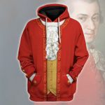 Gearhomies Unisex Hoodie Mozart Historical 3D Apparel