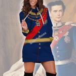 Gearhomies Dress Hoodie King Ludwig II of Bayern Historical 3D Apparel