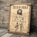 Gearhomies Canvas Zeus & Hera The King Of The Gods Of Mount Olympus