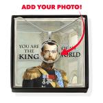 Gearhomies Jewelry Custom Photo Nicholas II of Russia Circle Pendant Necklace